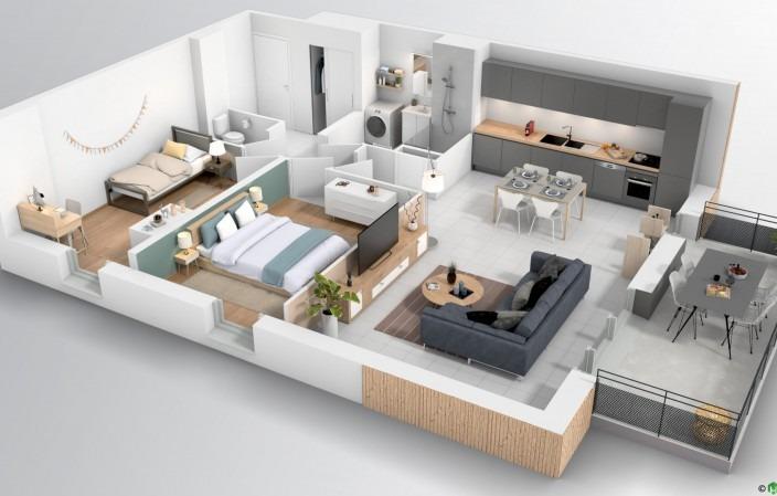 Résidence-Les-Arts-plan3D-B319