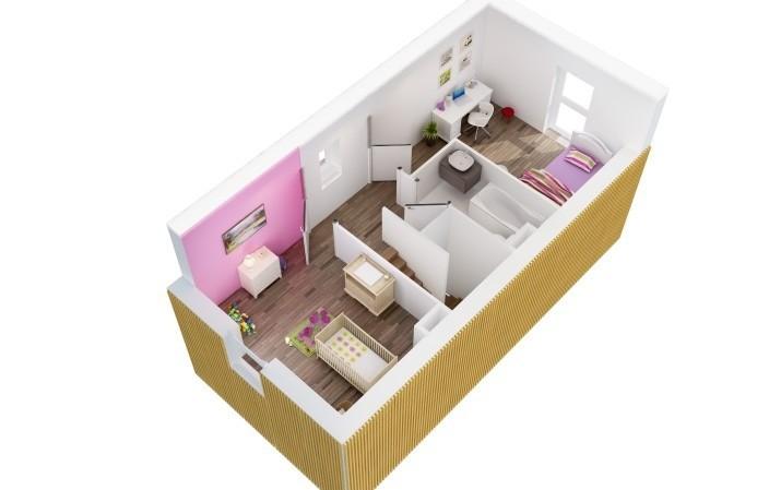 Plan de l'étage de la maison lot 8 des Villas Cazalis