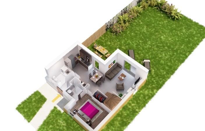 Plan rez de chaussée de la maison lot 8 des Villas Cazalis